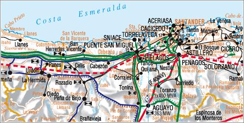 Mapa Red Transporte de Energía Eléctrica / Red Eléctrica Española