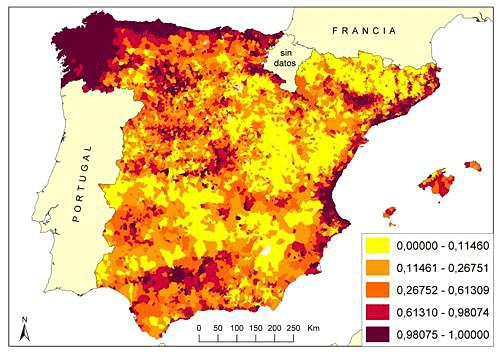 Mapa zonas de riesgo de incencio