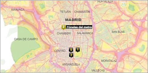 Mapa del ruido en Madrid