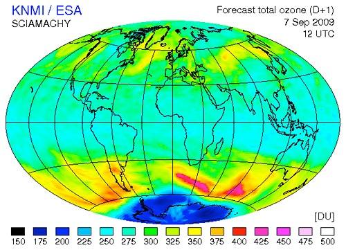 Niveles de concentración de ozono