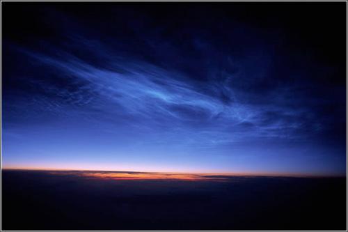 Nubes Noctilucentes sobre Alaska