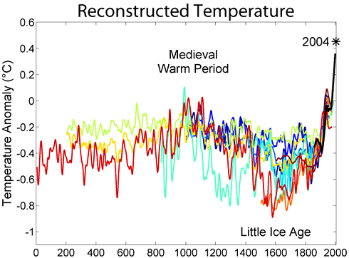 Reconstructed Temperature Graph
