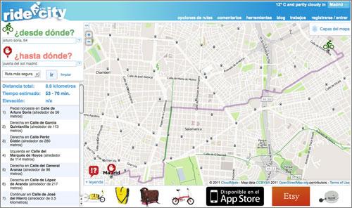 Ride the City España: cómo ir en bicicleta del punto A al punto B por la ruta más segura