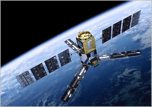 Representación del SMOS en órbita / Imagen: ESA - AOES Medialab
