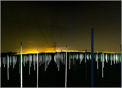 Tubos fluorescentes encendidos por campos magneticos