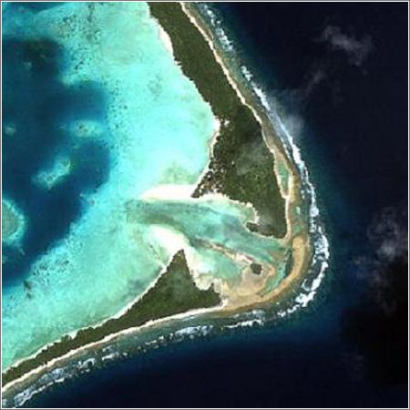 Funafuti, una de las nueve islas de Tuvalu