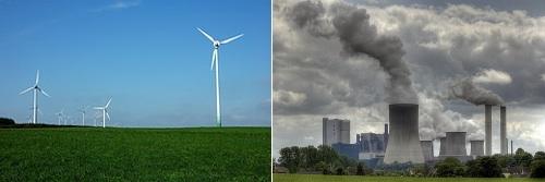 Eólico contra carbón