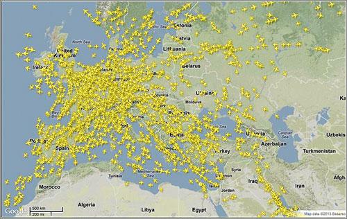 Flightradar: Europe