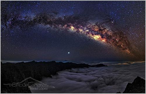 La Vía Láctea vista desde La Palma