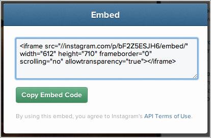 Código de Instagram