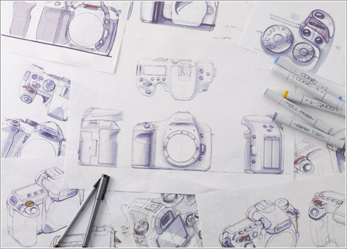 Esbozos de la Canon EOS 7D