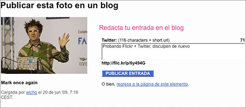 Flickr a Twitter 2