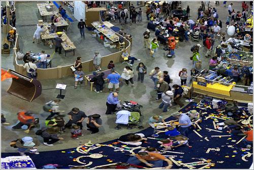 Panoramica Maker Faire 2009 por Cris Benton