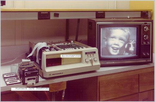 Reproductor de cintas de la primera cámara digital