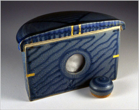 Steve Irvine large blue camera