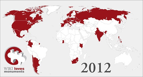 Países que participan en WLM 2012