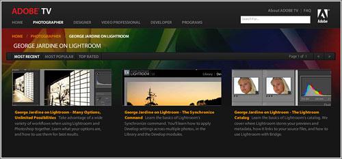 Adobe TV videotutoriales fotografía