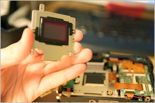 Cambio Hotmirror en una EOS 20D