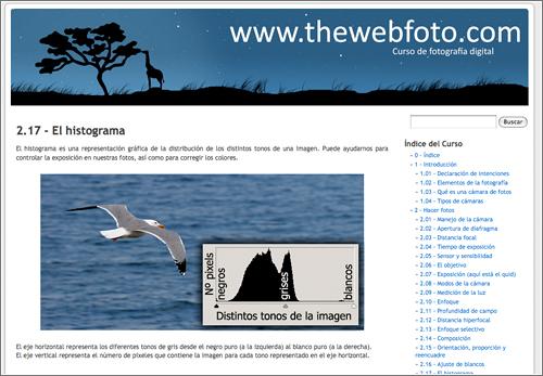 Curso en TheWebFoto.com
