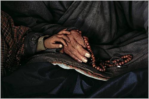 Föllmi - nieto y abuelo en Bután.