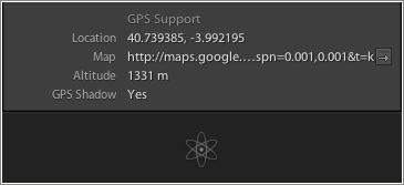 GPS Support de Lightroom