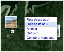 Cómo llegar aquí en Google Maps