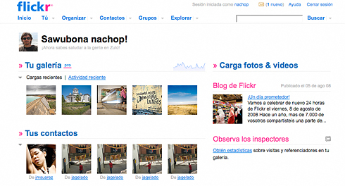 Nueva Home de Flickr