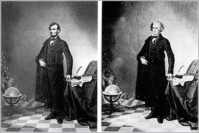 Fotografía montaje de Linconln de 1860