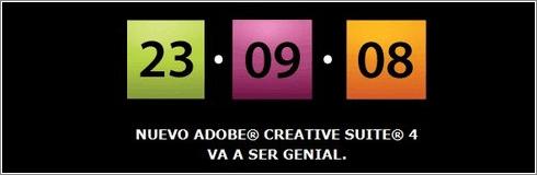 Apuntarse a la presentación de Adobe Creative Suite 4