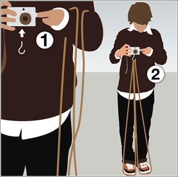 Tripode con una cuerda