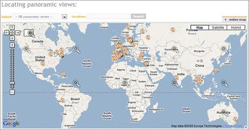 Mapa de localización de vistas de vietAt.org