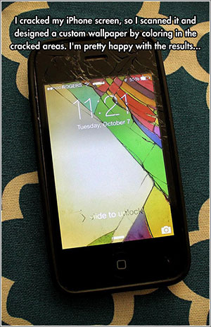 Funny-Phone-Cracked-Screen-Colored-Image