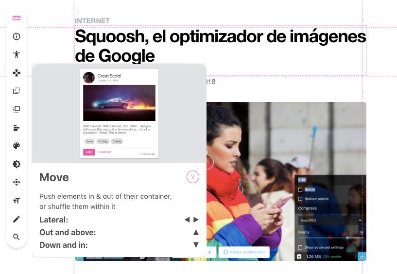 VisBug, una extensión de Google para Chrome que permite editar visualmente sitios web