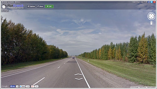 Google Street View + MapCrunch