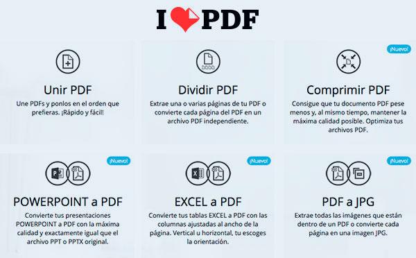 I Love PDF: convertir archivos PDF
