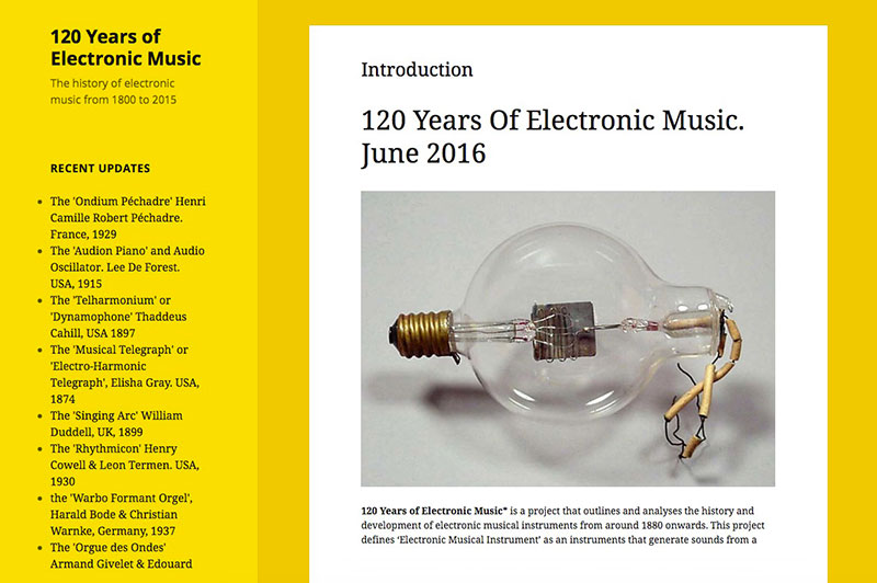 120 Years of Electronic Music