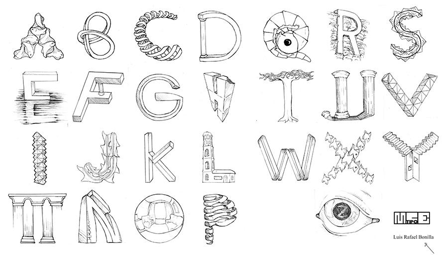 Alfabeto Escher / Luis Rafael Bonilla