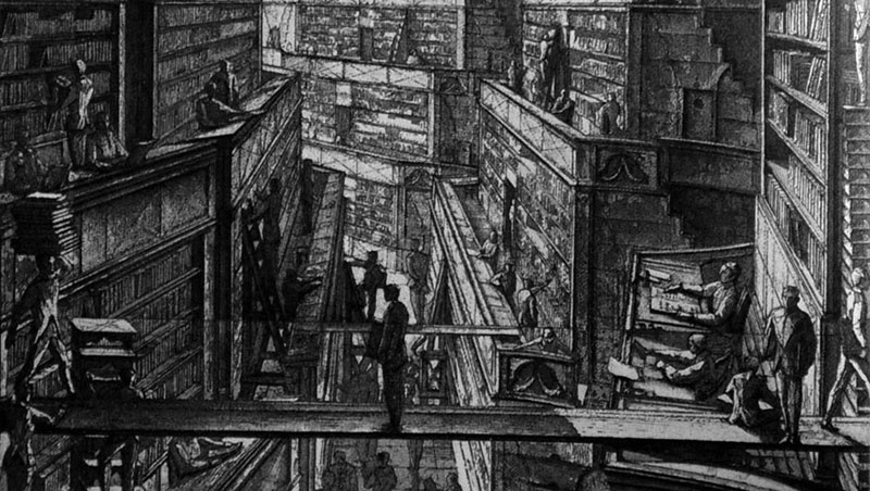 Biblioteca de Babel / Erik Desmazieres
