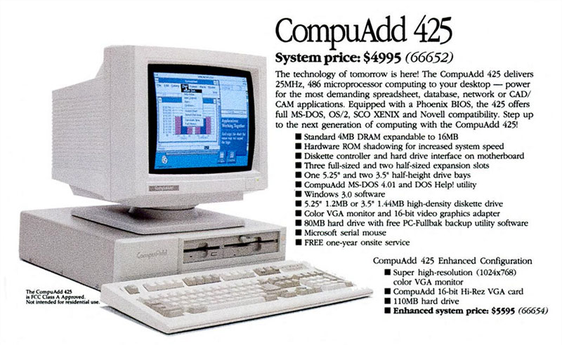 CompuAdd 425
