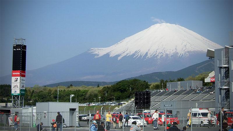 Fuji Speedway with Mount Fuji