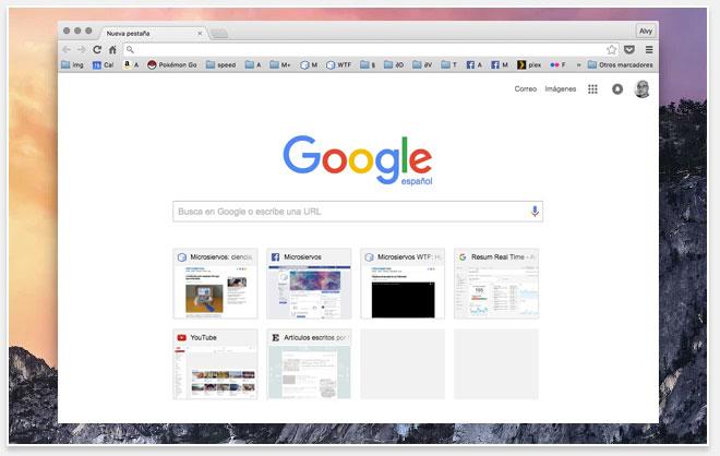 Cómo restaurar el tema con los colores, tipografías e iconos originales de Google Chrome OS X