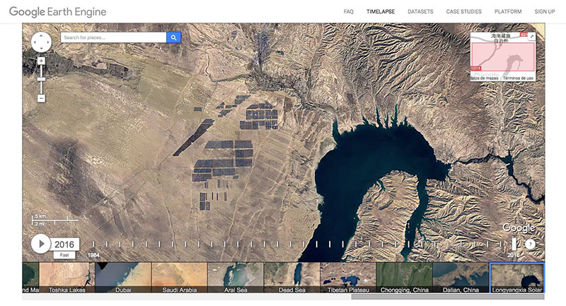 Google Earth en time-lapse