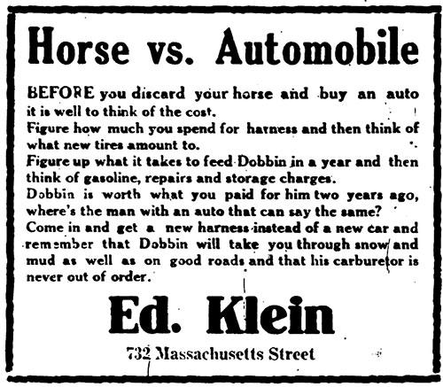 Horse vs Automobile (1915)