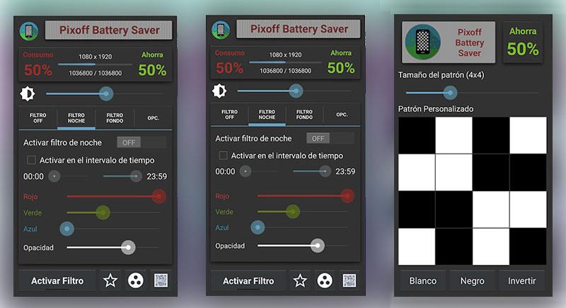 Pixoff: una app para ahorrar batería en móviles con pantallas AMOLED