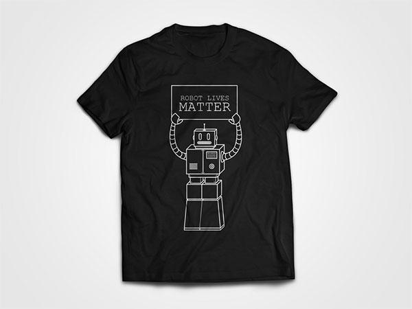 Robot Lives Matter Mockup Black