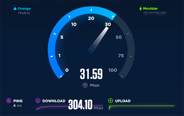 Speedtest movistar