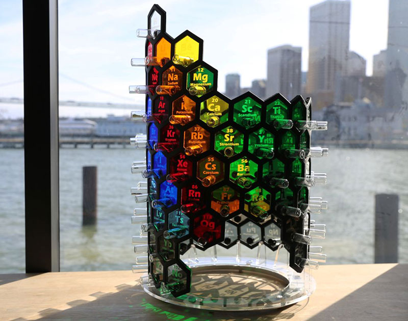 Una tabla peridica 3d decorativa de forma helicoidal microsiervos tabla peridica 3d urtaz Gallery