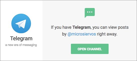 Canal Microsiervos en Telegram