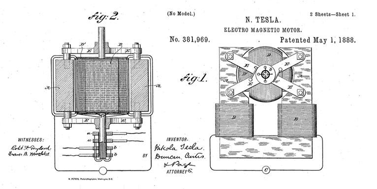 Todas las patentes de Nikola Tesla en un gigantesco documento PDF de 500páginas