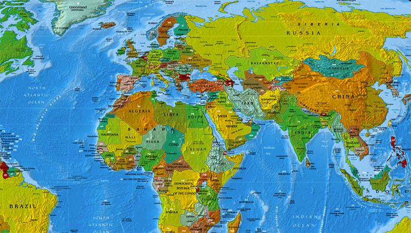 Mapa Del Mundo Con Los Códigos De Dos Letras De Cada País Microsiervos Mundoreal